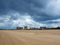 The beach in ayr scotland uk Royalty Free Stock Image