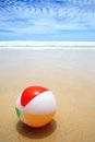 Beach ball beautiful and on the sand Stock Photos