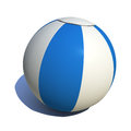 Beach ball colorful white and blue Stock Photography