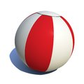Beach ball colorful white and red Royalty Free Stock Image
