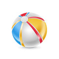 Beach ball isolated on white background Royalty Free Stock Photos