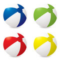 Beach ball variation Stock Photos