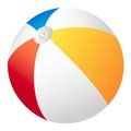 Beach ball vector this is file of eps format Stock Photography
