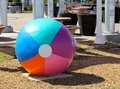 Beach ball virginia beach virginia super sized Stock Photo