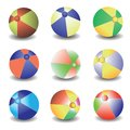 Beach balls colorful illustration with for your design Royalty Free Stock Photography