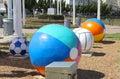 Beach Balls, Virginia Beach Virginia Royalty Free Stock Photo