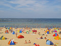 Beach at baltic sea colorful on ruegen island sellin the germany Royalty Free Stock Image