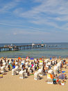 Beach at baltic sea the famous pier in sellin ruegen island with germany Stock Photo