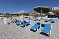 Beach bar in spain costa del sol andalusia Stock Photo