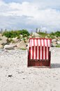 Beach basket baltic sea beach groemitz Royalty Free Stock Photography