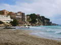 Beach bay azure cala gat majorca island spain Stock Photography