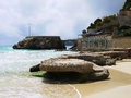 Beach bay azure cala gat majorca island spain Stock Images