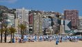 Beach in Benidorm in May Stock Photo