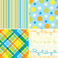 Beach blue orange pattern Stock Photo