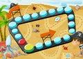Beach board game Royalty Free Stock Photo