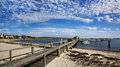 Beach boat dock near kennedy compound hyannis port cape cod massachusetts usa Royalty Free Stock Images