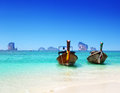 Beach and boats andaman sea thailand Stock Photos
