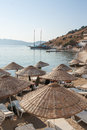 Beach in Bodrum, Turkey Royalty Free Stock Photo