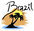 Beach brazil creative design of Royalty Free Stock Photo
