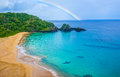 Beach In Brazil With A Rainbow...