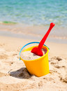 Beach bucket with spade Stock Photography