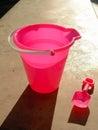Beach bucket at twilight Royalty Free Stock Image