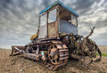 Beach bulldozer Royalty Free Stock Photo