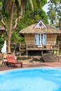 Beach bungalow in tropical Thailand . Stock Images