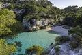 Beach of Cala Macarelleta, Menorca, Balearic Islands, Spain. Royalty Free Stock Photo