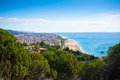 Beach of Calella, Costa Brava, Catalonia, Spain Royalty Free Stock Image
