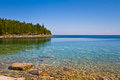 Beach in canada view of a with calm water Stock Photography