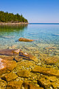 Beach in canada view of a with calm water Royalty Free Stock Photos