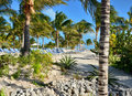 Beach in caribbean grand turk Royalty Free Stock Images