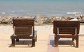Beach chair. Royalty Free Stock Photography