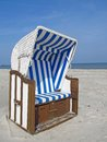 Beach chair at the baltic sea germany Royalty Free Stock Photography