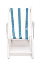 Beach chair with blue and white stripes Stock Photography