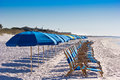 Beach Chairs on Destin Beach Royalty Free Stock Photo