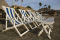 Beach chairs in San Juan del Sur Nicaragua Royalty Free Stock Photo