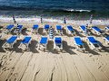 Beach lido ready for summer Royalty Free Stock Photo