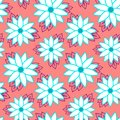 Beach cheerful seamless pattern wallpaper of tropical dark green leaves of palm trees and flowers bird of paradise strelitzia