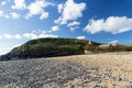 Beach church st winwaloe gunwalloe church cove cornwall england uk Royalty Free Stock Photo
