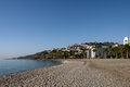 Beach and city Nerja, Spain Royalty Free Stock Photo