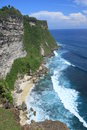 Beach cliff in bali island Uluwatu Stock Photography