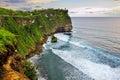 Beach cliff uluwatu bali amazing with blue sea taken from Royalty Free Stock Photos