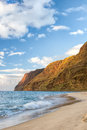 Beach and cliffs na pali coast polihale at the south end of the of kauai hawaii a great place to escape the crowds Royalty Free Stock Image