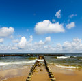 Beach and cloudy sky Royalty Free Stock Photo