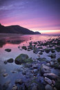 Beach coastline the jurassic uk beautiful early morning sunrise over the Stock Images