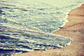 Beach coastline retro style Royalty Free Stock Photo
