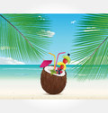 Beach and Cocktail Series vector Royalty Free Stock Images