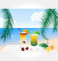 Beach and Cocktail Series vector Royalty Free Stock Image